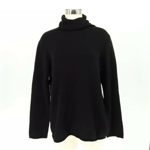Ann Taylor Fuzzy So Soft Cashmere Sweater XL Black